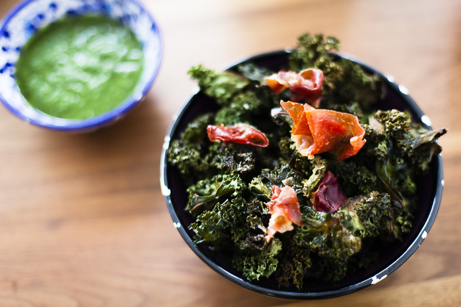 Kale chips with parmaham, cumin and sea salt-2