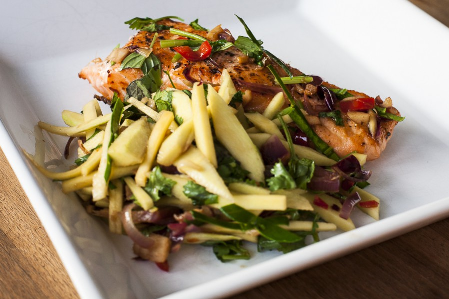 Grilled Salmon and Green Mango Salad