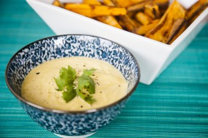 Garlic Aioli with sweet potato fries