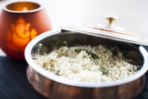 Cauliflower rice with Indian Spices