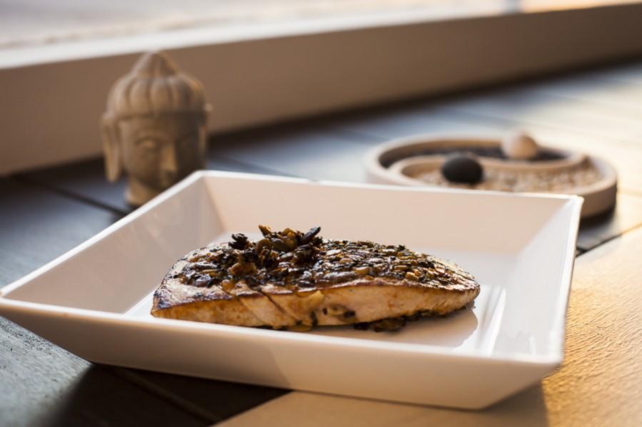 Dukkah crusted tuna