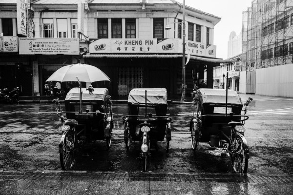 Rickshaws in Chinatown, Georgetown