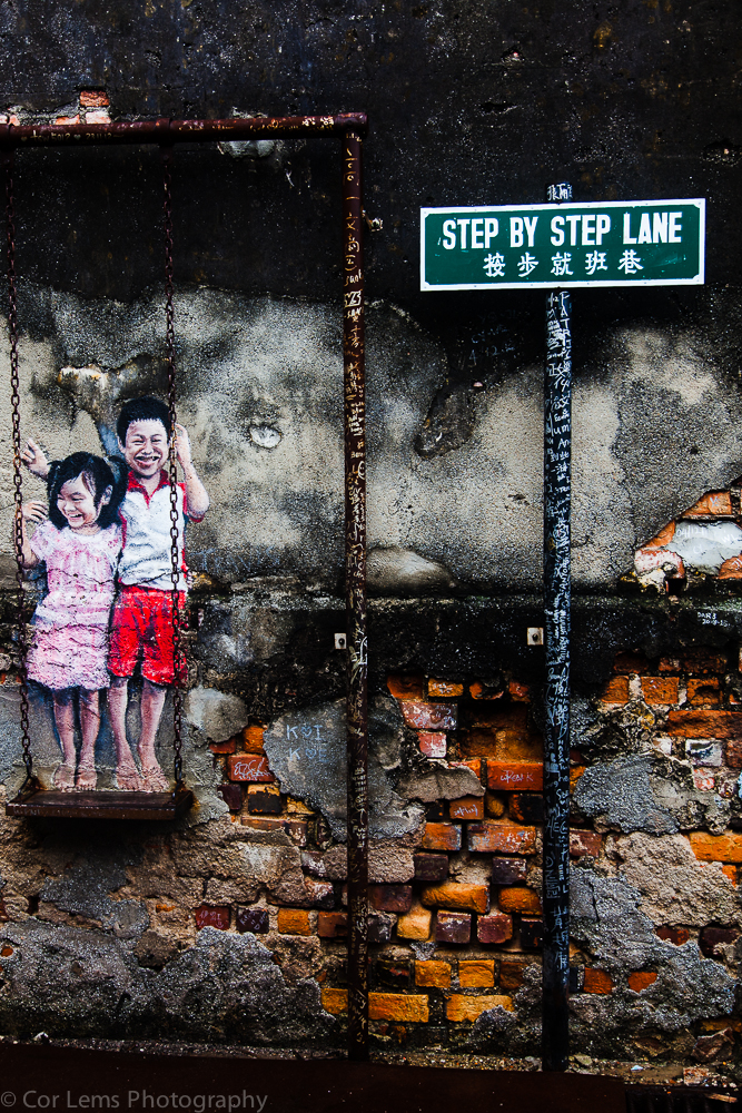 Step by Step Lane streetart