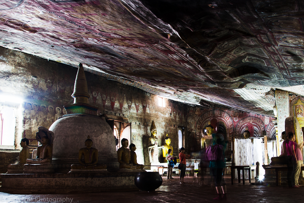 Inside one of the Dambulla cave temples, Sri Lanka (January 2014