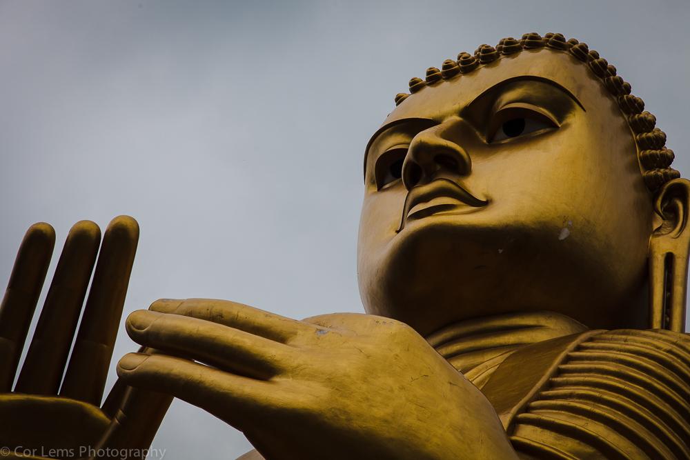 Golden Buddha,  Aluvihara monastery, near Dambulla, Sri Lanka (J