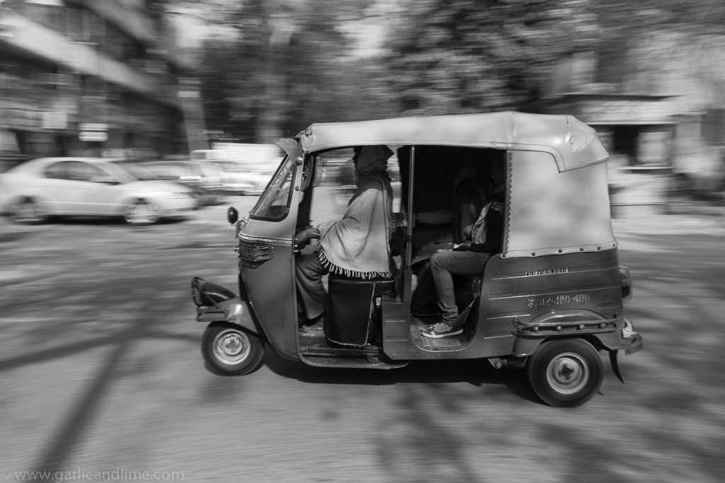 "An ""auto"" in Vasant Vihar, New Delhi, India (February 2012)"