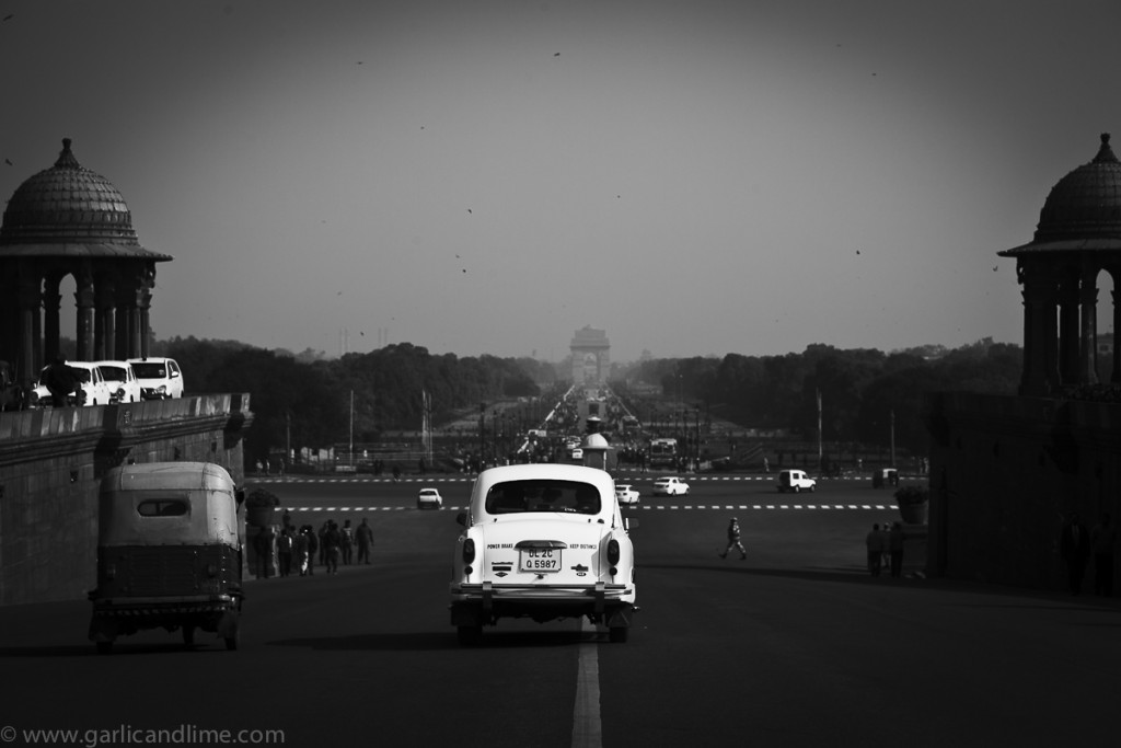 Driving down Raisina Hill, New Delhi, India (January 2013)