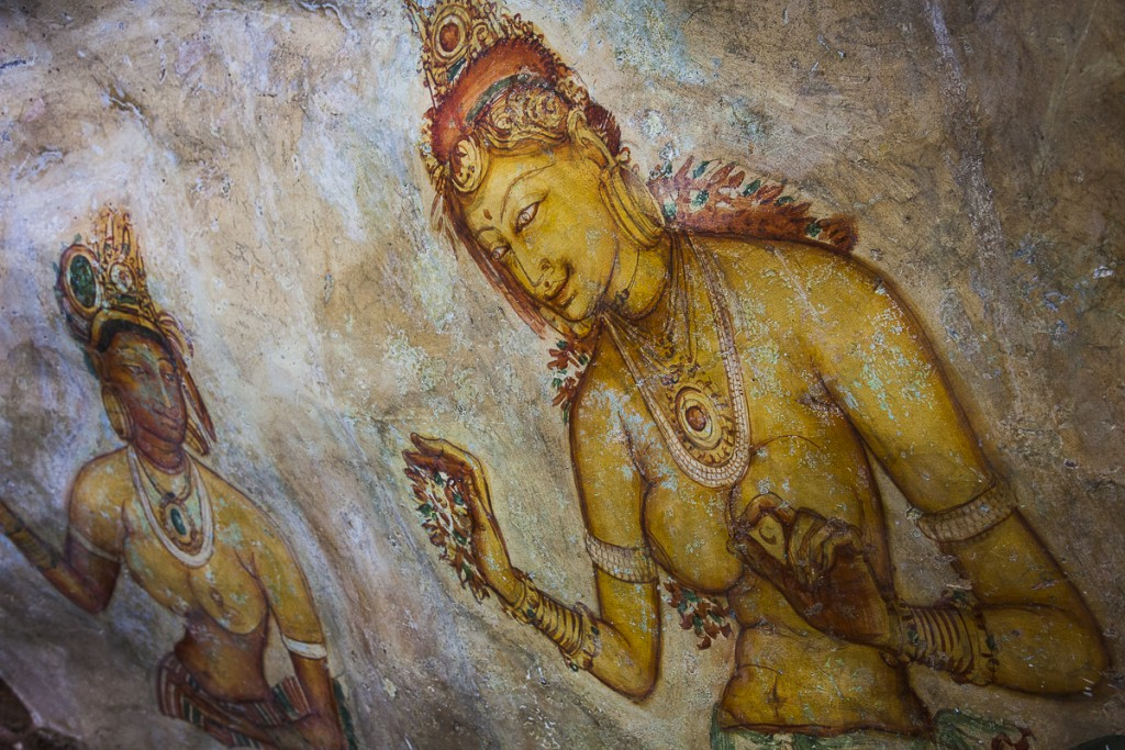 Cave rock paintings, Sigiriya Rock