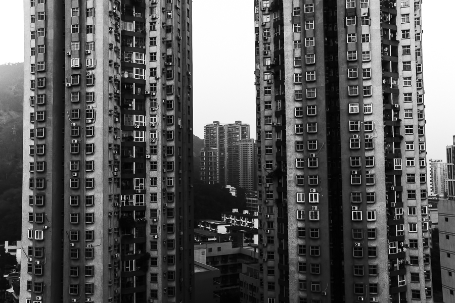 Apartment buildings in Shenzhen, China (January 2014)