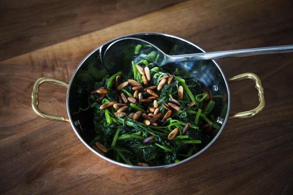 Spinach Soup With Potato & Fried Garlic Recipe — Dishmaps