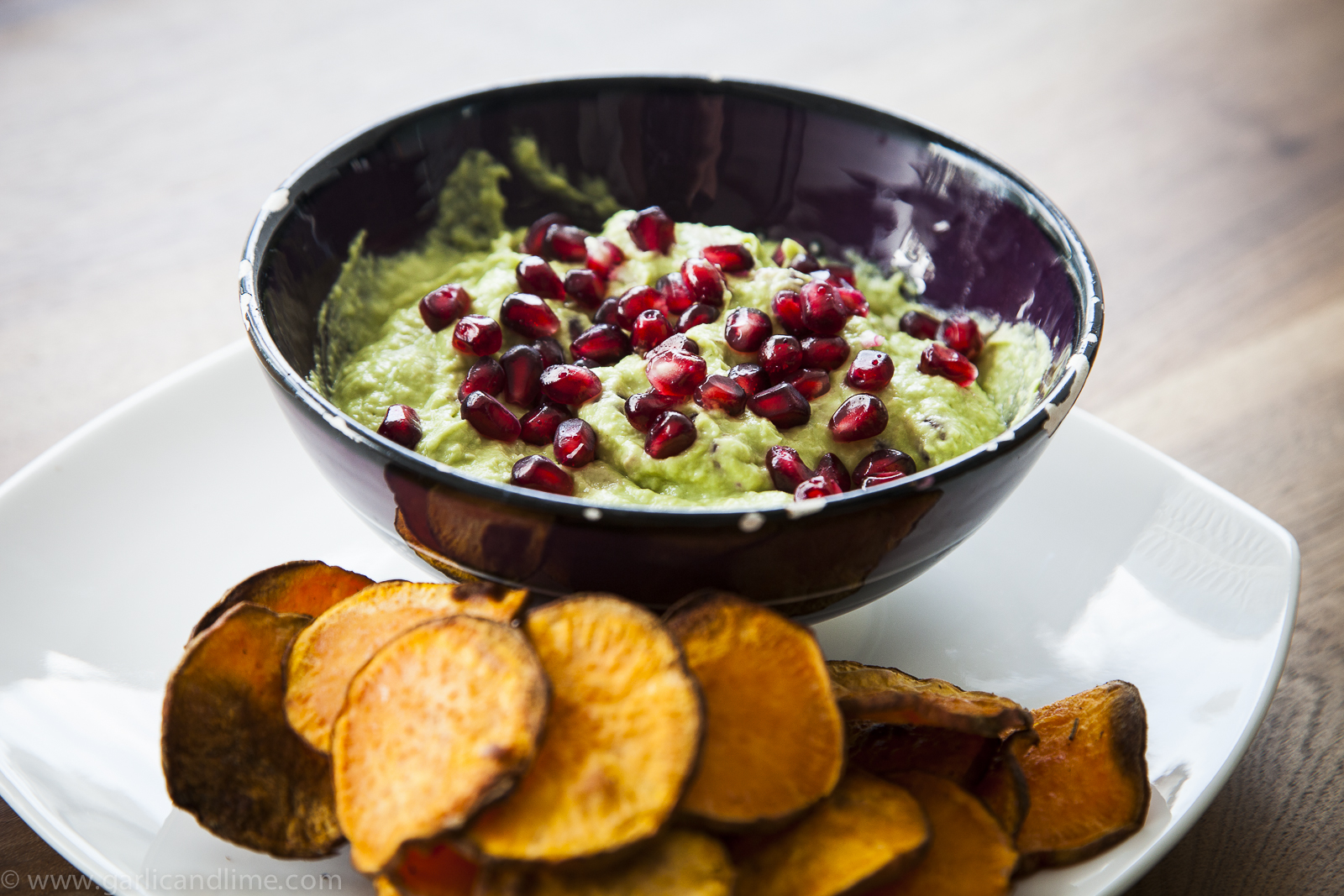 Avocado Tahini Dip with Pomegranate Seeds