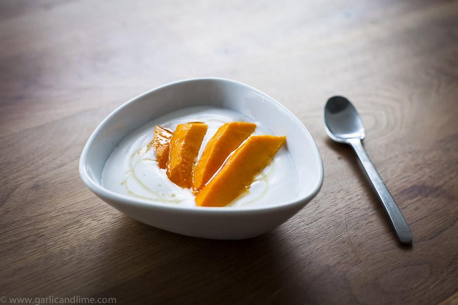 Coconut Yoghurt with Mango and Honey