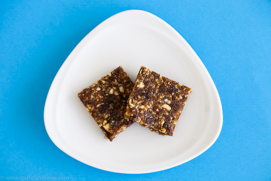 Apricot, Almond and Date snack bars