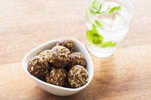 Fig, date, mixed nut, healthy snack balls